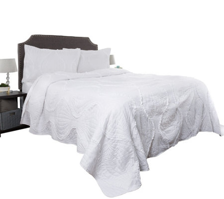 2-Piece Oversized Charlize Twin Quilt Set by Lavish Home