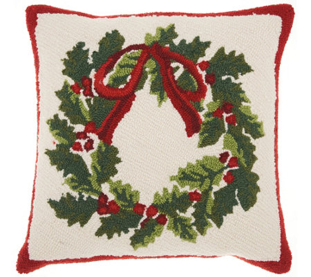 "Mina Victory Wreath Multicolor 18"" x 18"" ThrowPillow"