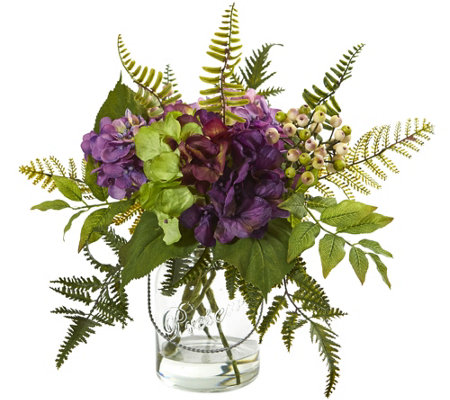 14 Hydrangea Berry Arrangement By Nearly Natural