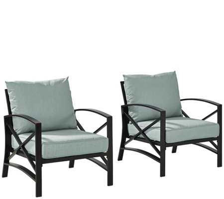 Kaplan Two Outdoor Chairs With Cushions