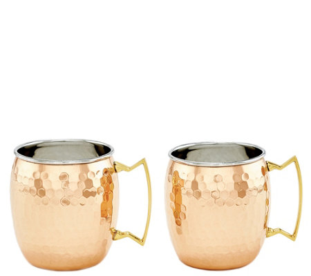 Old Dutch International Hammered Moscow Mule Mug Set Of 2