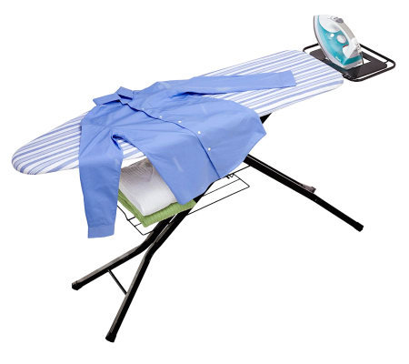 Honey-Can-Do Quad-Leg Ironing Board with DeluxeIron Rest