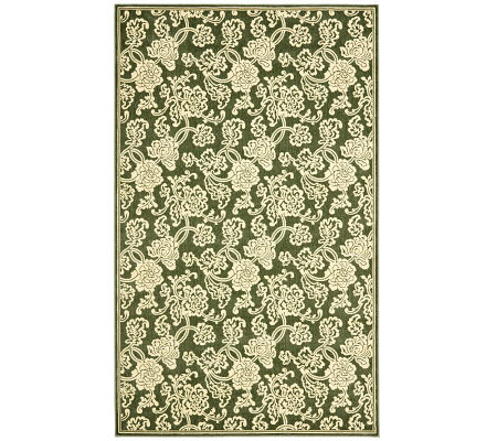 Treasures Allover Floral Power-Loomed Rug - 4'x6'