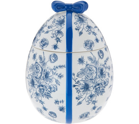 HomeWorx by Harry Slatkin Ceramic Egg w/ 12oz. Candle Drop-In