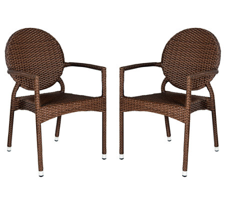 Safavieh Valdez Set of 2 Indoor/Outdoor Arm Chairs