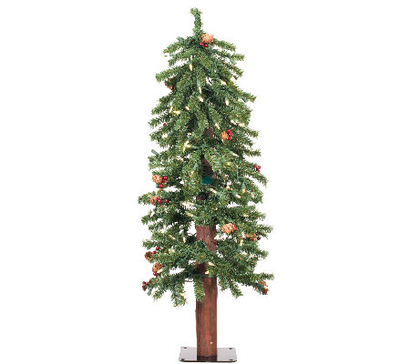 4' Prelit Frosted Alpine Berry Tree by Vickerman
