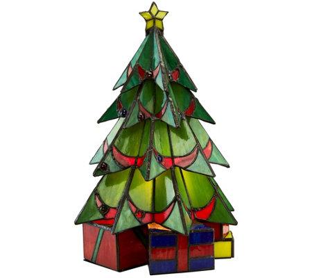 Design Toscano Festive Christmas Tree Stand Stained Glass Lam U2014 QVC.com