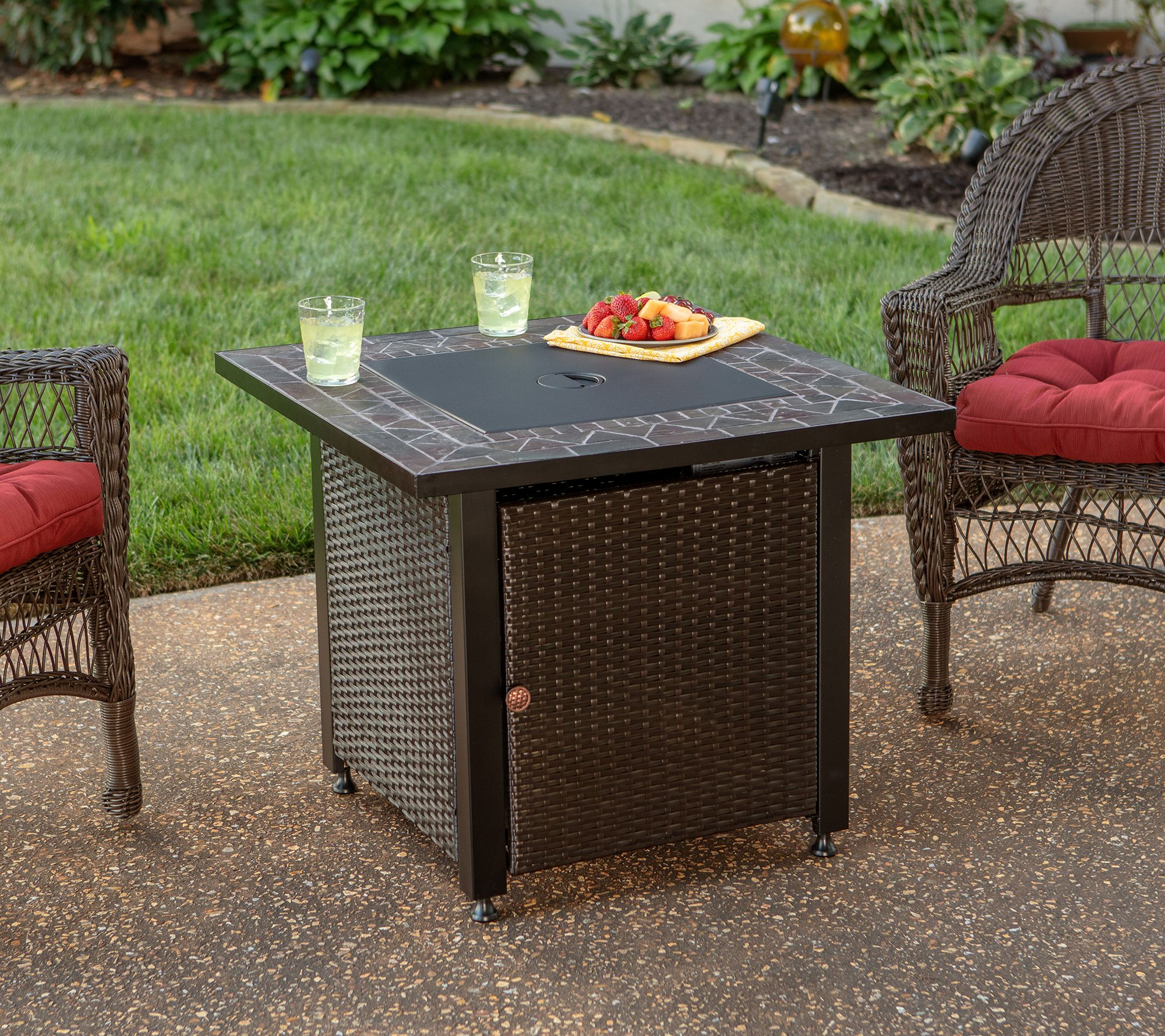 Blue Rhino Lp Propane Steel Fire Pit Table Qvc Com