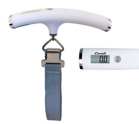 Escali Velo Digital Luggage Scale- 110 lb HighCapacity