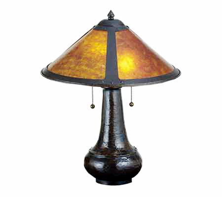 "Tiffany Style 21""H Onion Mica Lamp"
