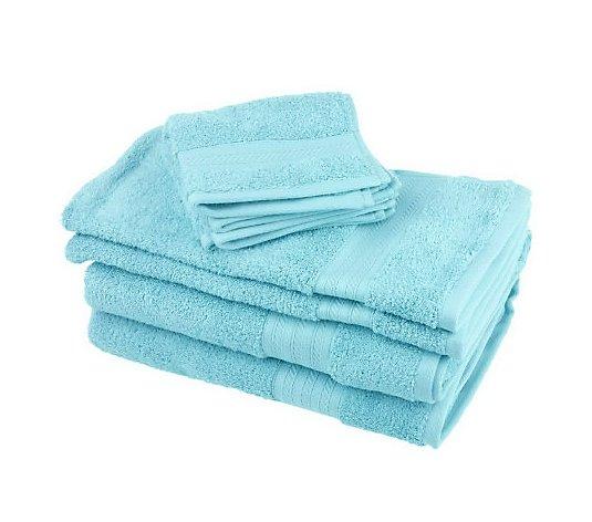 Northern Nights Supima Cotton 6 Piece 600 Gsm Bath Towel Set Qvc Com