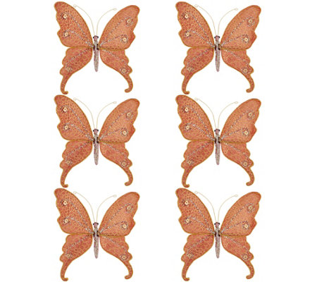 Set of 6 Butterfly Clips by Valerie