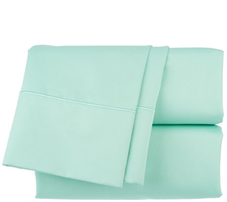 Northern Nights 500TC Cotton Wrinkle Defense Sheet Set w/ Embroidered Hem