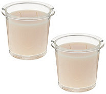 HomeWorx by Harry Slatkin S/2 Scented Candle Drop-In Refills - H213654