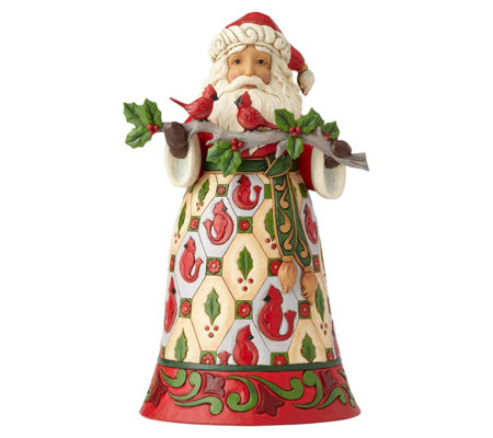 Jim Shore Heartwood Creek Santa Holding Branch with Cardinals