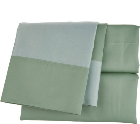 Home Reflections Reversible 700TC Sheet Set w/ Extra Cases
