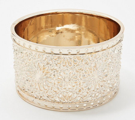 HomeWorx by Harry Slatkin Goldtone Snowflake Candle Holder