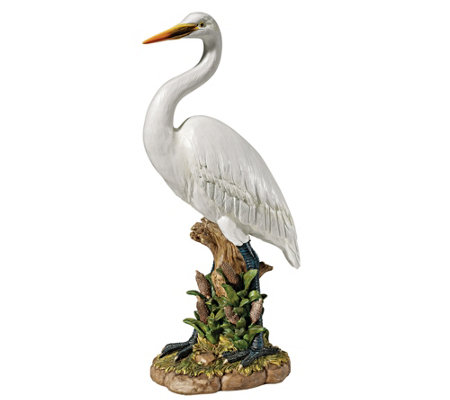 Design Toscano Great White Egret Lawn Scultpure