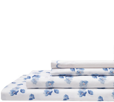 Elite Home Spring Meadow Print 4 Piece Twin Sheet Set