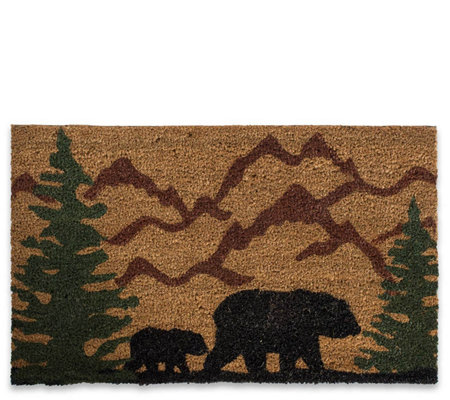 Bear Country Natural Coir Doormat With Nonslipback