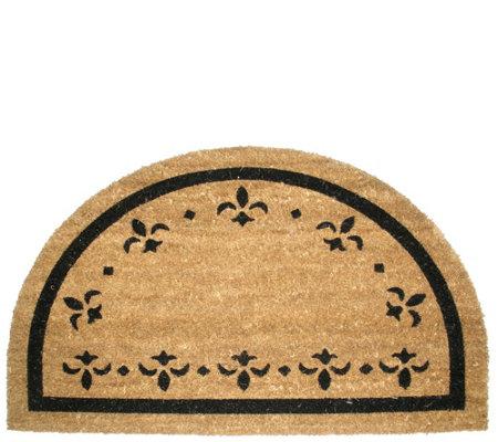 Half Round Fleur Dy Lys Natural Coir Doormat W Nonslip Back