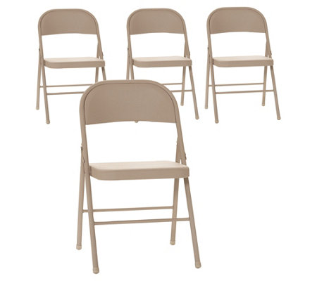 Cosco Set Of 4 All Steel Folding Chairs