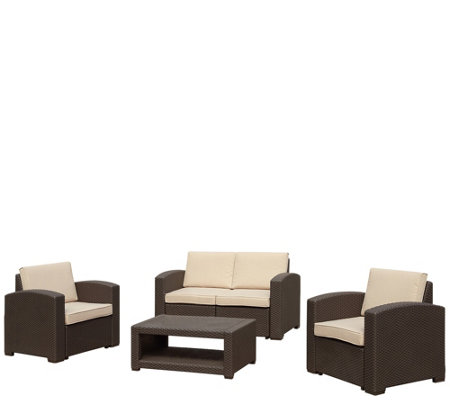 Maenza 4 Piece Outdoor Sofa Set
