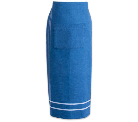 Design Imports French Stripe Chambray Bistro Apron
