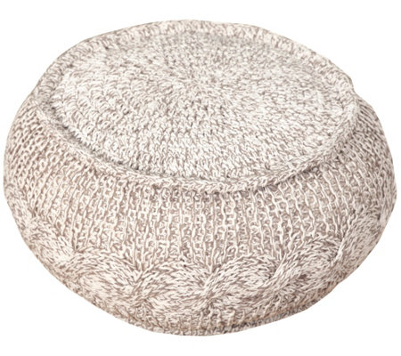 Groovy Ox Bay Natural Jute Pouf Qvc Com Unemploymentrelief Wooden Chair Designs For Living Room Unemploymentrelieforg