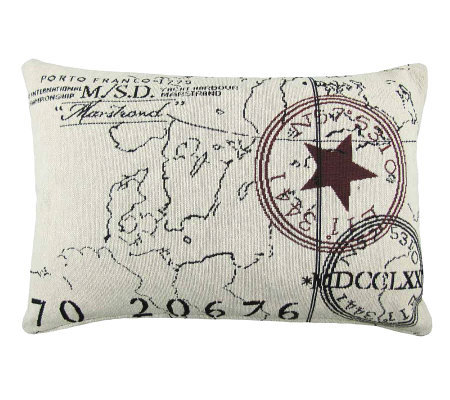 Vintage House World 9 x 13 Tapestry Pillow