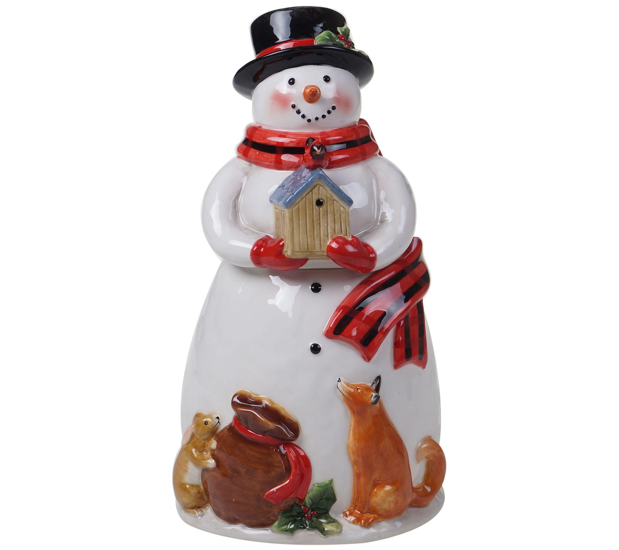 Magic Of Christmas Snowman Cookie Jar Qvc Com