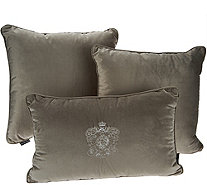 Dennis Basso Lush Velvet Set of 3 Decorative Pillows - H213355