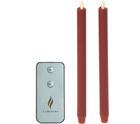 "Luminara Set of (2) 12"" Soft Touch Tapers with Remote"