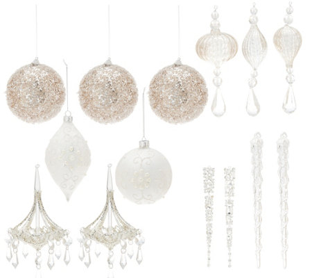 Inspire Me! Home Decor Assorted 14-pc Glam Collection Ornament Set