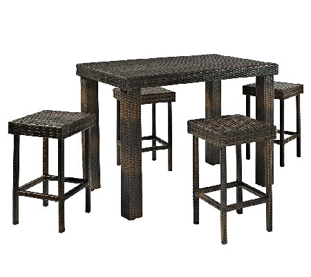 Crosley Palm Harbor 5-Piece Outdoor Wicker HighDining Set