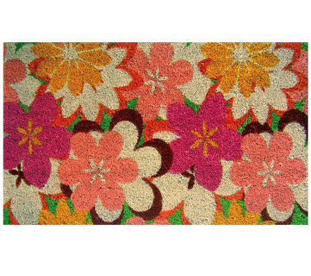 Geo Craft Flower Coir Doormat