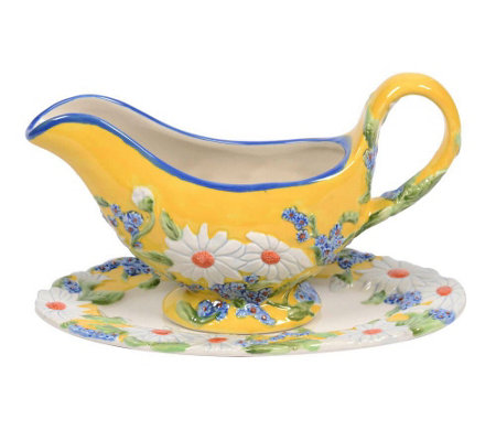 Temp-tations Figural Floral Gravy Boat