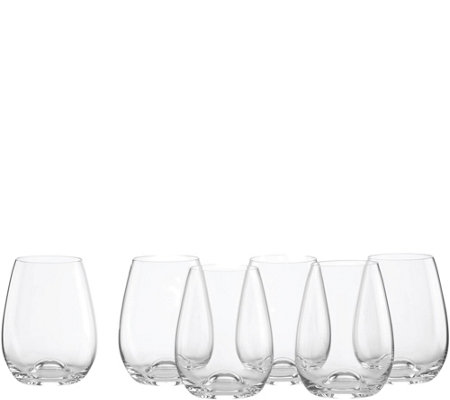 Lenox Tuscany Classics Set of 6 Stemless Wine Glasses