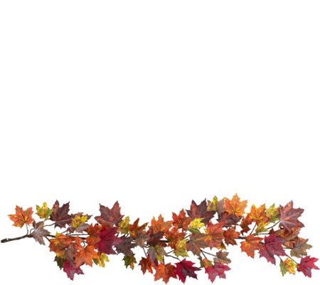 "60"" Maple Leaf Garland by Nearly Natural"