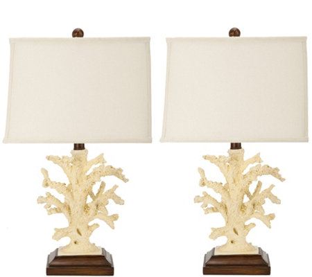 Safavieh Set of 2 Key West Faux-Coral Lamps