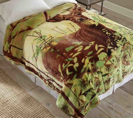 Shavel Hi Pile 90x90 Luxury Coverlet - Deer