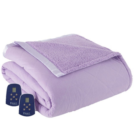 Shavel Micro Flannel Reverse to Sherpa Twin Electric Blanket