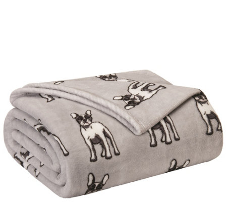 Elite Home Products Holiday Print Full Queen Blanket