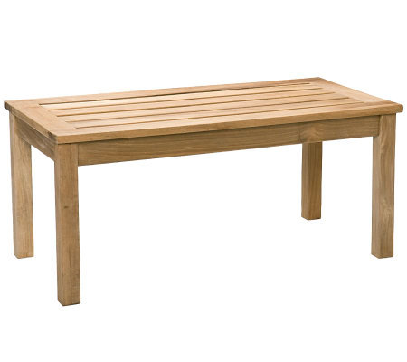 Allison Outdoor Coffee Table - Light Brown