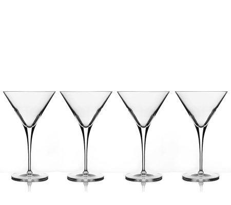 4 oz martini glasses amazon luigi bormioli set of 10oz martini glasses qvccom