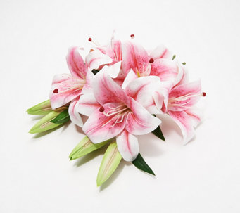 Faux Floral Casablanca Lily Bouquet by Peony - H218156