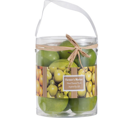 Set of 9 Faux Fuji Apples by Valerie