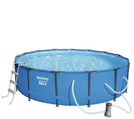 Bestway - Steel Pro MAX 15\' Pool Set — QVC.com