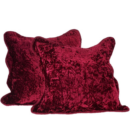 "Dennis Basso Set of 2 16""x16"" Lyon Velvet Pillows"
