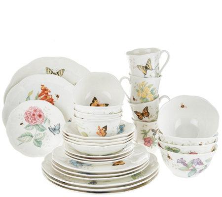 Lenox Butterfly Meadow 28-piece Porcelain Dinnerware Set  sc 1 st  QVC.com & Lenox Butterfly Meadow 28-piece Porcelain Dinnerware Set - Page 1 ...